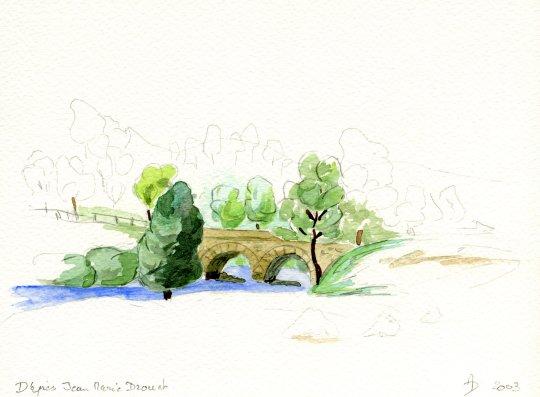Pont  d'après JM Drouet